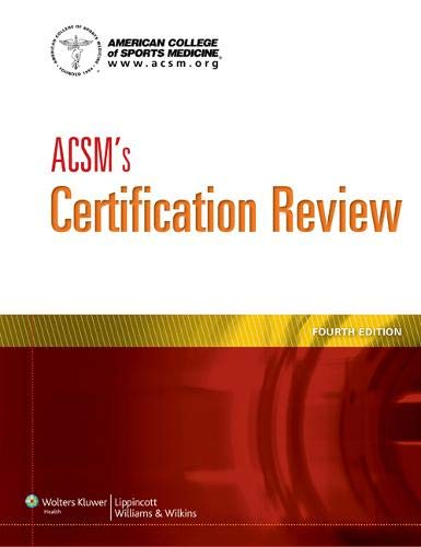 9781609139544: ACSM's Certification Review