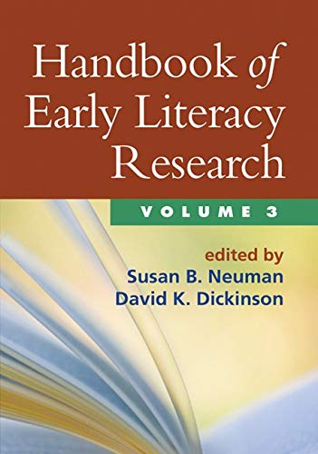 9781609180270: Handbook of Early Literacy Research, Volume 3