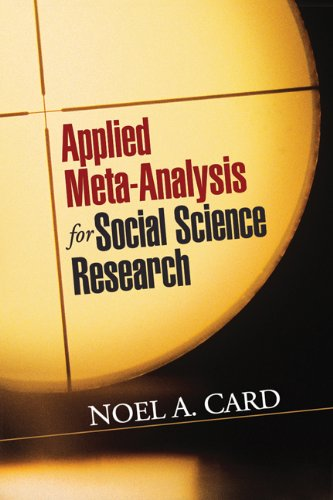 9781609184995: Applied Meta-Analysis for Social Science Research (Methodology in the Social Sciences)