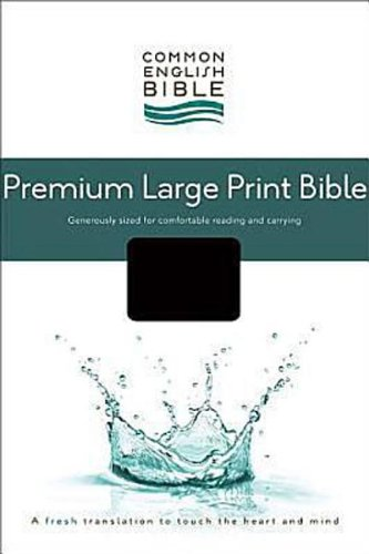 9781609260651: CEB Common English Premium Large Print Bible, Decotone Black Onyx