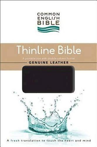 CEB Common English Thinline Bible, Genuine Leather Cowhide Black: Common English Bible