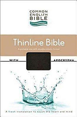 9781609261085: CEB Common English Thinline Bible with Apocrypha DecoTone Black