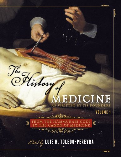 9781609272531: The History of Medicine, as Written by Its Founders, Volume 1: From the Hammurabi Code to the Canon of Medicine