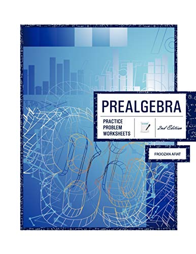 9781609277604: Prealgebra: Practice Problem Worksheets, with Medical Applications, 2nd Edition