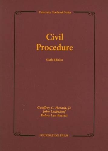 9781609300241: Civil Procedure, 6th (University Treatise Series)
