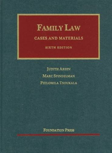 9781609300548: Family Law: Cases and Materials, 6th Edition (University Casebook)