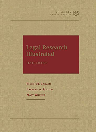 9781609300555: Legal Research Illustrated (University Treatise Series)