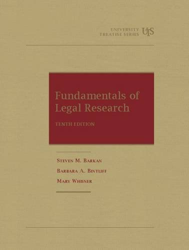 9781609300562: Fundamentals of Legal Research (University Treatise Series)