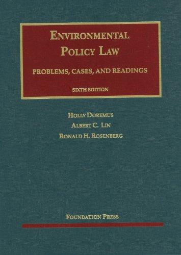 9781609301736: Doremus, Lin and Rosenberg's Environmental Policy Law (University Casebook Series)
