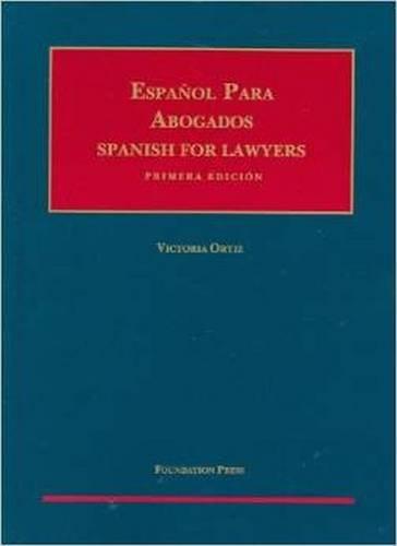 9781609302160: Espanol para Abogados (Spanish for Lawyers) (Coursebook)