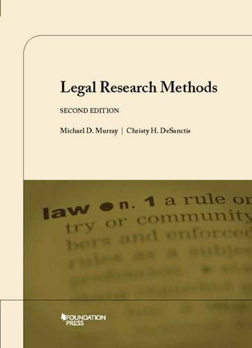 9781609302429: Legal Research Methods (Coursebook)