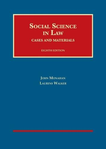 9781609302603: Social Science in Law, Cases and Materials, 8th Ed. (University Casebook) (University Casebook Series)