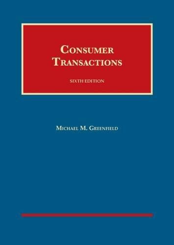 9781609302771: Consumer Transactions (University Casebook Series)