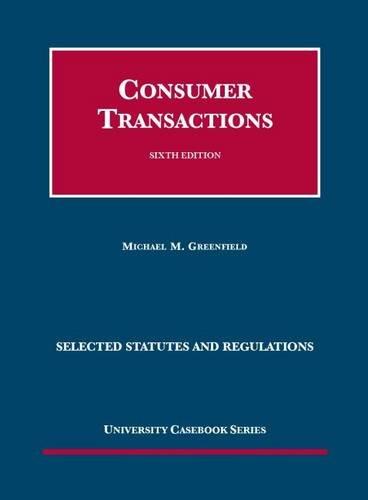 9781609302955: Consumer Transactions (Coursebook)