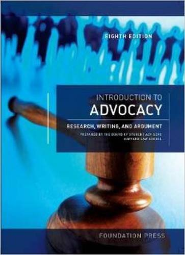 9781609303082: Introduction to Advocacy: Research, Writing and Argument (Coursebook)