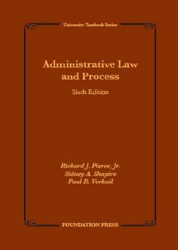 9781609303099: Administrative Law and Process (University Treatise Series)