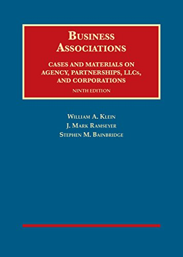 9781609303495: Business Associations, Cases and Materials on Agency, Partnerships, and Corporations (University Casebook Series)