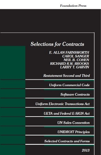 9781609303617: Selections for Contracts, 2013 (Selected Statutes)