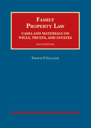 9781609303952: Family Property Law, Cases and Materials on Wills, Trusts, and Estates (University Casebook Series)