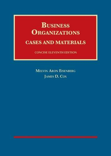 9781609304362: Business Organizations Cases and Materials (University Casebook) Concise Edition