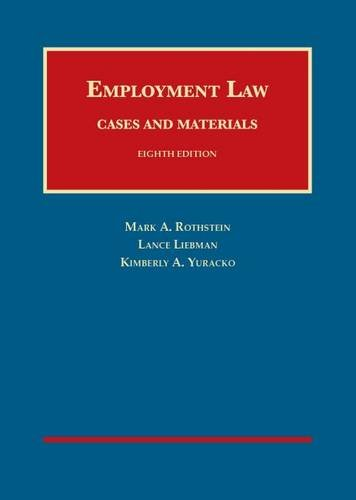 9781609304492: Employment Law Cases and Materials (University Casebook Series)