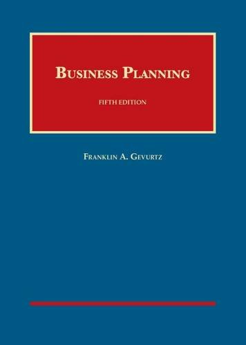9781609304539: Business Planning (University Casebook Series)