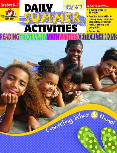 9781609634391: Daily Summer Activities, Moving from 6th to 7th Grade