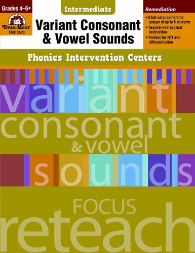 9781609634520: Variant Consonant and Vowel Sounds, Grades 4-6+ (Phonics Intervention Centers Intermediate)
