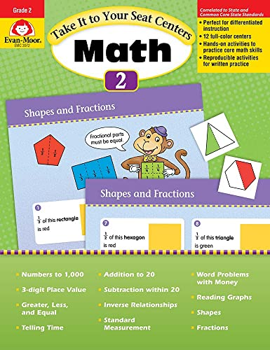 9781609637811: Take It to Your Seat Common Core Math Centers, Grade 2 (Take It to Your Seat Centers)