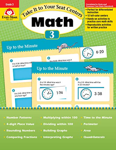 Take It to Your Seat Common Core Math Centers : Grade 3
