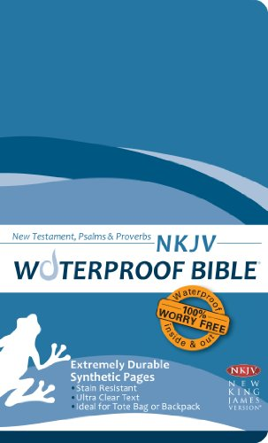 9781609690038: Waterproof Durable New Testament with Psalms and Proverbs-NKJV-Blue