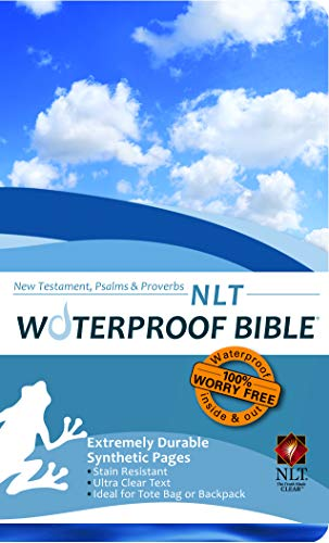 9781609690106: Waterproof Durable New Testament with Psalms and Proverbs-NLT-Blue