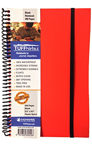 9781609690298: TUFFNotes 5.5 Orange with Blank pages - waterproof notebook - journal