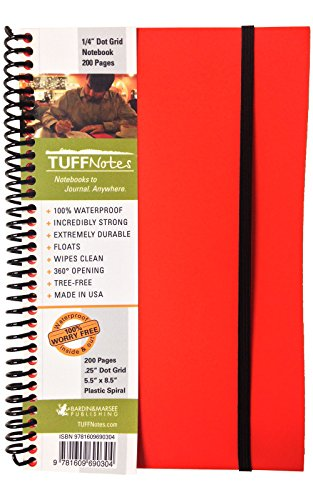 9781609690304: TUFFNotes 5.5 Orange with Dot Grid pages - waterproof notebook - journal