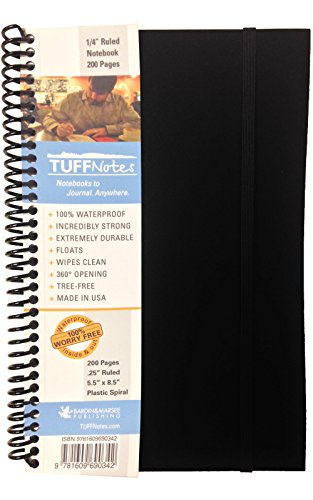 9781609690342: TUFFNotes 5.5 Black with Ruled pages - waterproof notebook field book