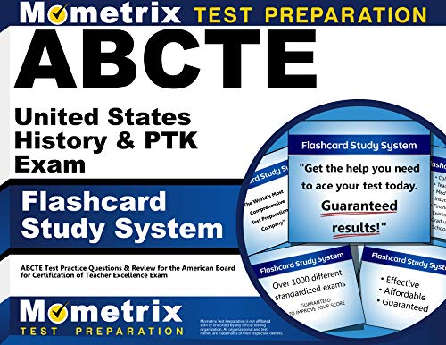 9781609710446: ABCTE United States History & PTK Exam Flashcard Study System: ABCTE Test Practice Questions & Review for the American Board for Certification of Teacher Excellence Exam (Cards)