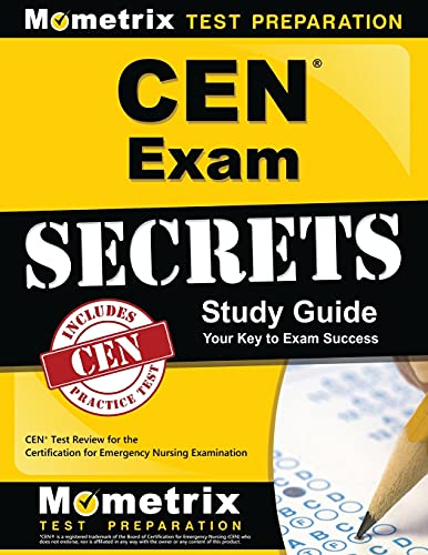 9781609712990: CEN Exam Secrets Study Guide: CEN Test Review for the Certification for Emergency Nursing Examination