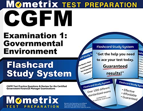 9781609713249: CGFM Examination 1: Governmental Environment Flashcard Study System: CGFM Test Practice Questions & Review for the Certified Government Financial Manager Examinations (Cards)