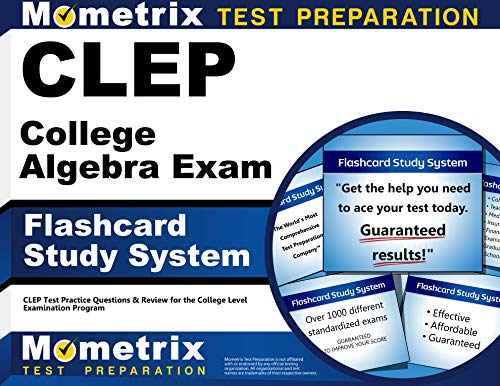 9781609713713: CLEP College Algebra Exam Flashcard Study System: CLEP Test Practice Questions & Review for the College Level Examination Program (Cards)
