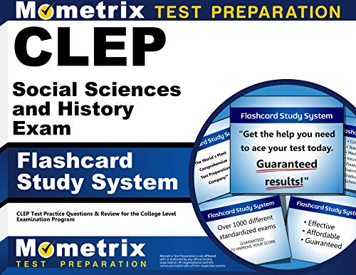 9781609713928: CLEP Social Sciences and History Exam Flashcard Study System: CLEP Test Practice Questions & Review for the College Level Examination Program (Cards)
