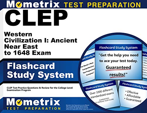 9781609713973: CLEP Western Civilization I: Ancient Near East to 1648 Exam Flashcard Study System: CLEP Test Practice Questions & Review for the College Level Examination Program (Cards)