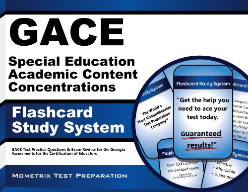 9781609718367: GACE Special Education Academic Content Concentrations Flashcard Study System: GACE Test Practice Questions & Exam Review for the Georgia Assessments for the Certification of Educators (Cards)
