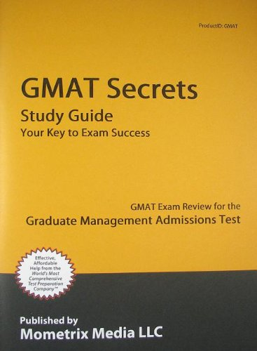 9781609718510: Gmat Secrets Study Guide: Gmat Exam Review for the Graduate Management Admissions Test