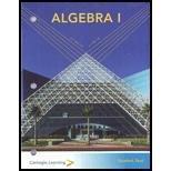 Algebra 1 Student Set Carnegie Learning: Carnegie Learning