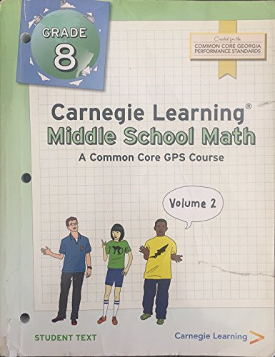 9781609721817: Carnegie Learning Middle School Math Grade 8 Volume 1 & 2 Student Edition