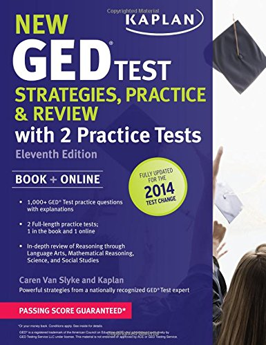 New GED® Test Strategies, Practice, and Review with 2 Practice Tests: Book + Online â?? ...