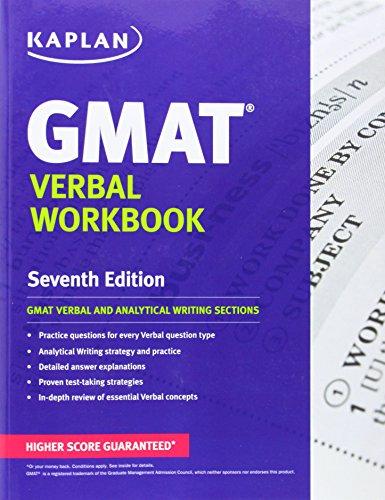 Kaplan GMAT Verbal Workbook (Kaplan Test Prep): Kaplan