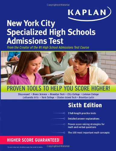 9781609781088: Kaplan New York City Specialized High Schools Admissions Test