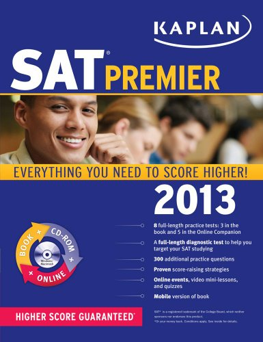 9781609782535: Kaplan SAT 2013 Premier with CD-ROM