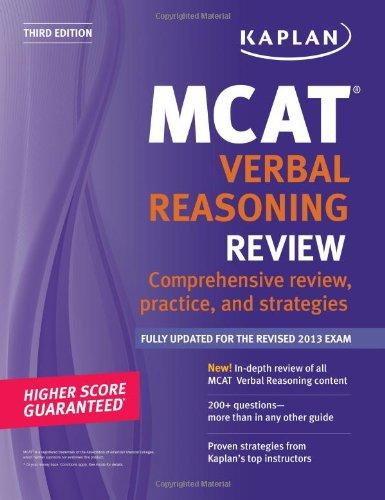 9781609786045: Kaplan MCAT Verbal Reasoning Review Notes (Kaplan Test Prep)